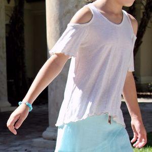 Vintage Havana Open-Shoulder Short-Sleeve Shirt